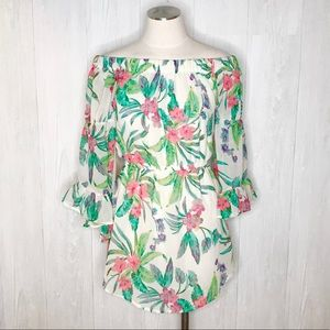 [Hint of Blush] Off the Shoulder Floral Dress Sz.S